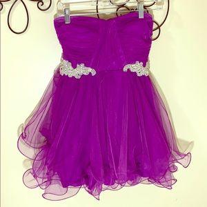 Short purple/violet dress